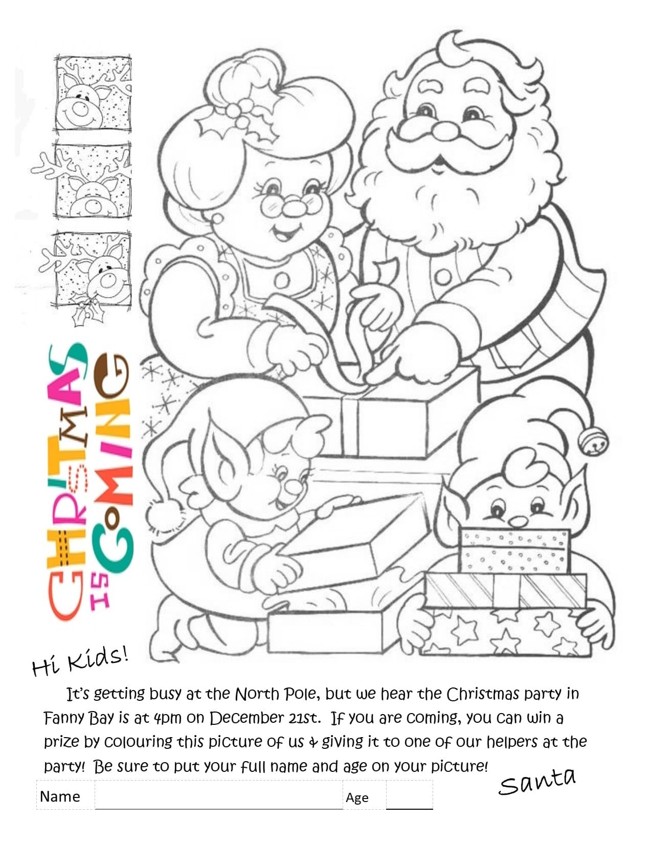 Christmas Colouring Contest