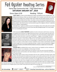 Fat Oyster Reading Series Jan 2019