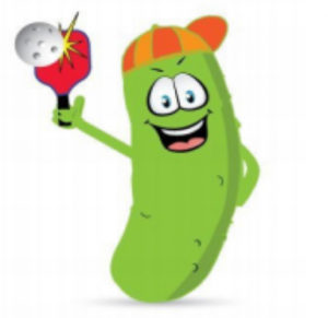 Pickleball cartoon character