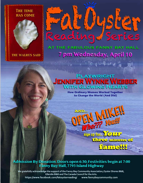 April Fat Oyster Reading Series