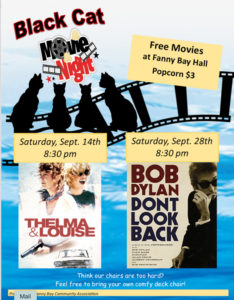 Black Cat Movie - Bob Dylan Don't Look Back Sept 28 8:30 pm