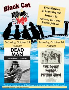 Black Cat Movie - The Rocky Horror Picture Show Oct 26 7:30 pm