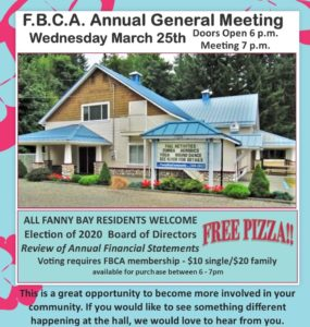 AGM March 25 7:00 pm