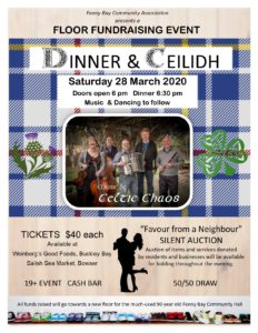 Floor Fundraising Event Dinner & Ceilidh *** POSTPONED UNTIL FALL ***