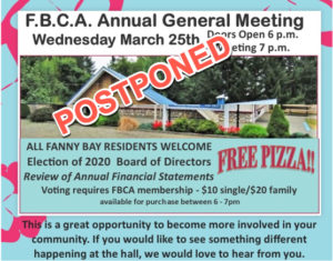Fanny Bay Community Association AGM *** POSTPONED ***